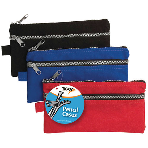 Chunky Zip Pencil Case Pack of 12 301317
