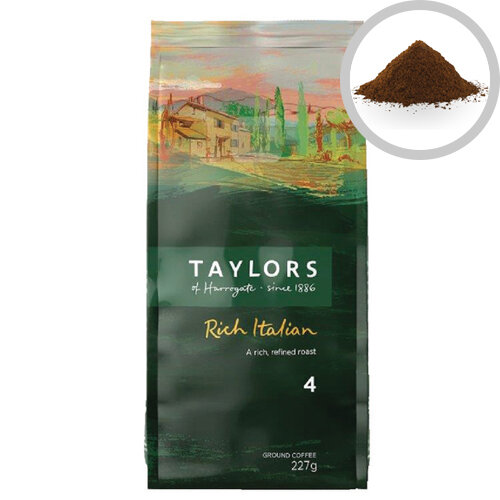 Taylors Rich Italian Ground Coffee 227g Pack of 1 3676