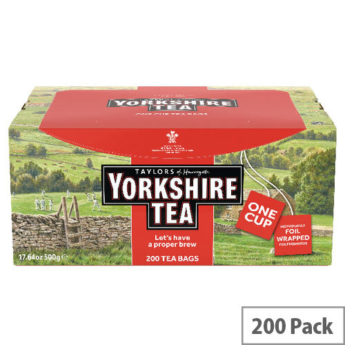Yorkshire Tea Tagged and Enveloped Pack of 200 2685UK