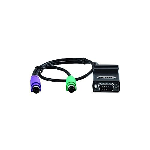 TRENDnet KVM Cable for KVM Switch 40 cm 1 x HD-15 Male VGA 1 x RJ-45 Female Network 2 x Mini-DIN PS/2 Male Keyboard/Mouse TK-CAT5P