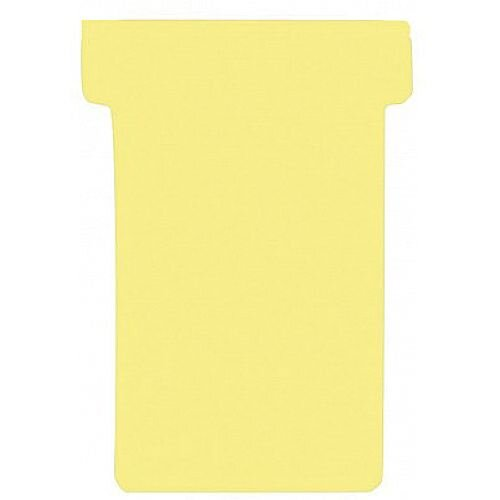 Franken T-Card Size 1 Yellow Pack of 100 TK104