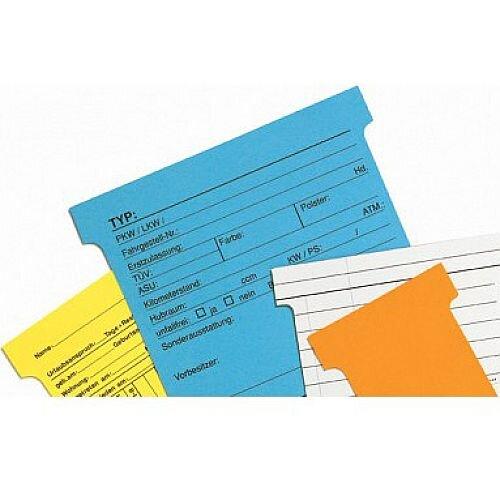 Franken T-Card Size 1 Orange Pack of 100 TK105