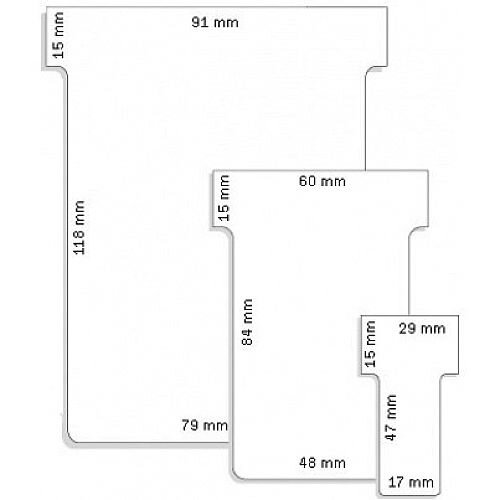 Franken T-Card Size 1 White Pack of 100 TK109