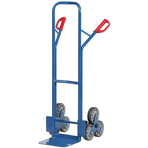 200kg Max Load 6 Wheel Steel Stairclimber Hand Truck With Rubber Wheels