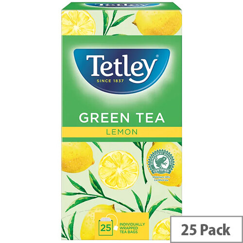 Tetley Green Tea With Lemon Tea Bags Pack of 25 1571A
