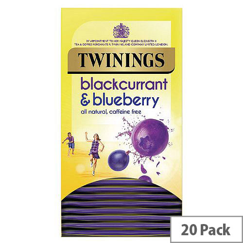 Twinings Blackcurrant and Blueberry Tea Bags Pack of 20 F14393