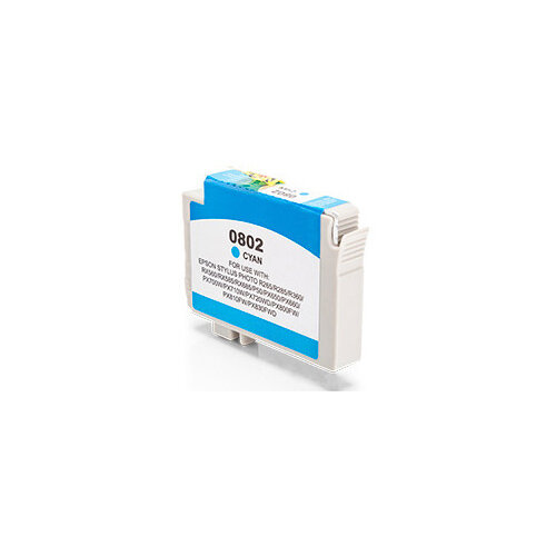 Compatible Epson C13T08024011 T0802 Cyan 935 Page Yield Ink Cartridge