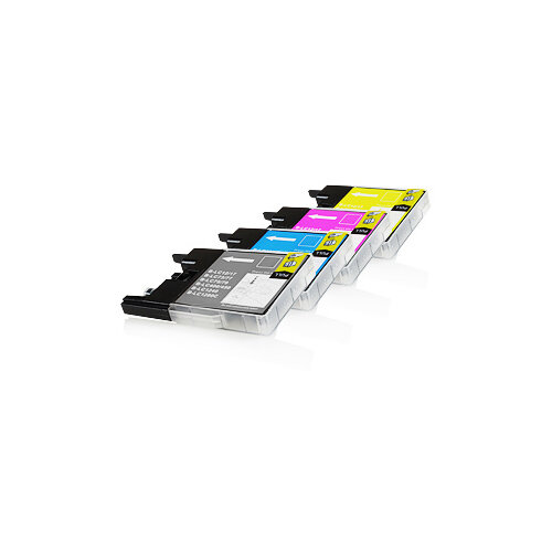 Compatible Brother LC1280XLVALBP Assorted 2400 Page Yield Ink Cartridges