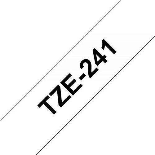 Compatible Brother TZE 241 Black on White Label Tape 18mm x 8m Pack of 5