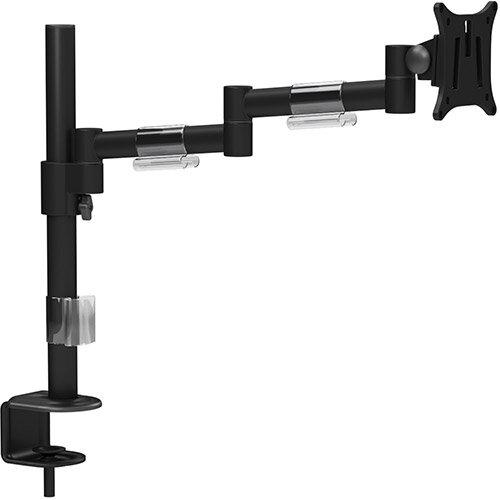 """Leap Single Monitor Arm Black - Up to 27"""" Screen, Maximum Load 8kg, VESA Compatible Arm - Colour: Black"""