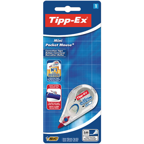 Tipp-Ex Mini Pocket Mouse Correction Roller Blister Pack of 10 128704