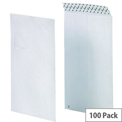 Tyvek Envelope 229x324mm C4 90gsm Window White (Pack of 100)