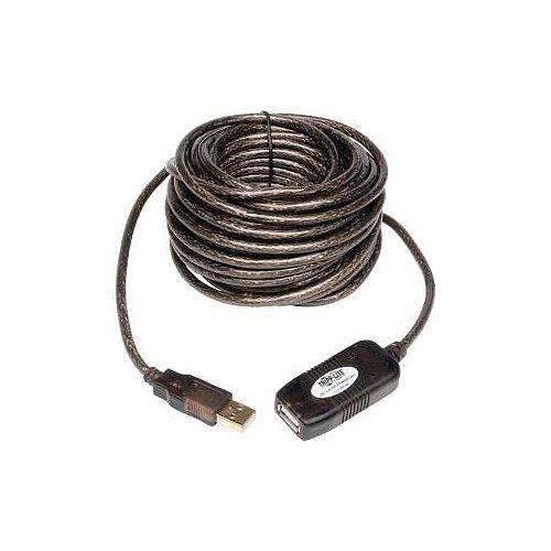 Tripp Lite USB Data Transfer Cable 4.88 m 1 x Type A Male USB 1 x Type A Female USB Extension Cable Black U026-016