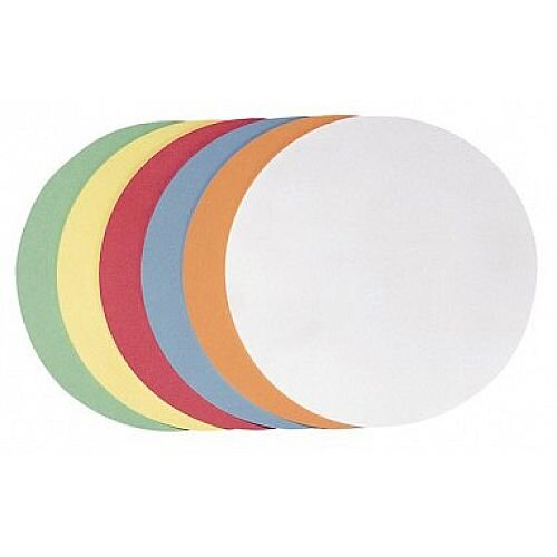 Franken Self-Adhesive Training Cards Circle 95mm Assorted Colours Pack of 300 UMZS 10 99