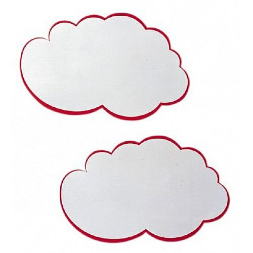 Franken Training Cards Cloud 420x250mm White with Red Edge Pack of 20 UMZ W