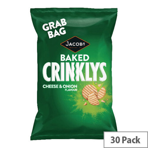 Jacobs Crinklys Cheese and Onion Grab Bag Pack of 30 27812