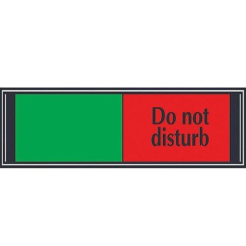 Stewart Superior Sliding Door Sign Do Not Disturb W255xH52mm Aluminium and PVC