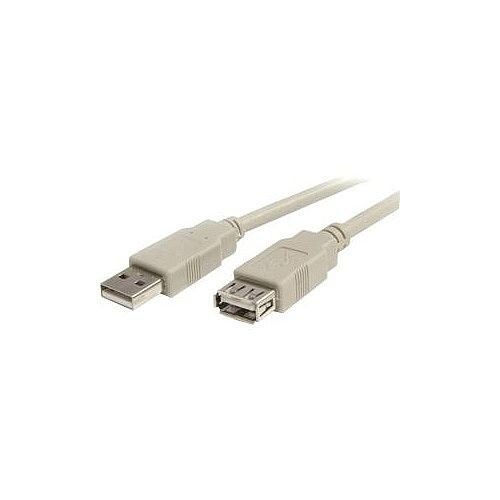 StarTech 6 ft USB 2.0 Extension Cable A to A M/F 1 x Male USB 1 x Type A Female USB Beige USBEXTAA 6