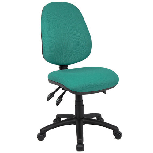 Vantage 200 3 lever asynchro operators chair with no arms - green