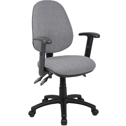 Vantage 200 3 lever asynchro operators chair with adjustable arms - grey