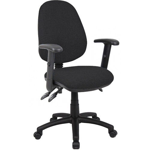 Vantage 200 3 lever asynchro operators chair with adjustable arms - black