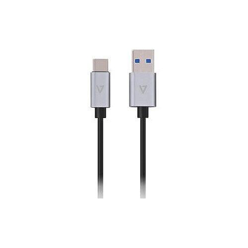 V7 V7U3.1C-1M-ALUGR-1EC USB Data Transfer Cable for Smartphone MacBook Tablet Cellular Phone 91.44 cm
