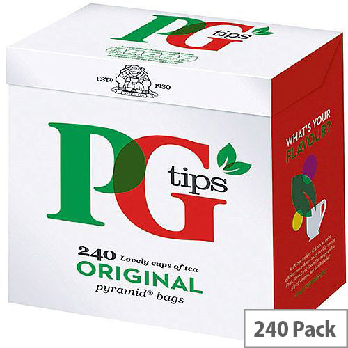 PG Tips Original Pyramid Tea Bags (Pack of 240) 10303320