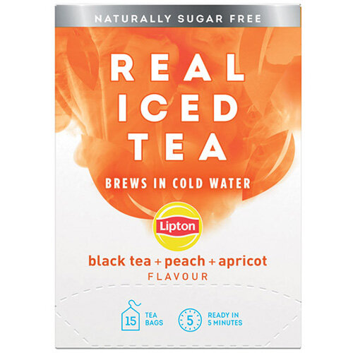 Lipton Cold Brew Black Tea Peach Pack of 15 67737978