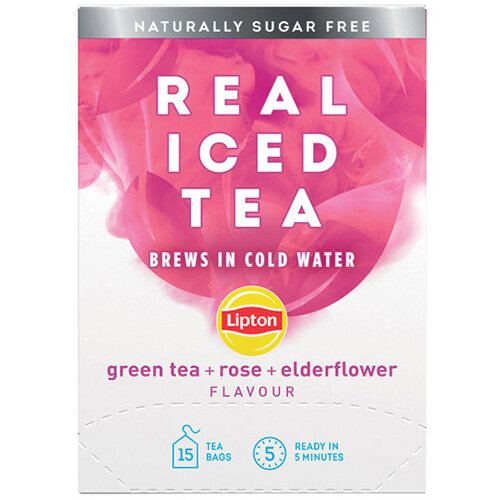 Lipton Cold Brew Green Tea Rose and Elderflower Pack of 15 67737996
