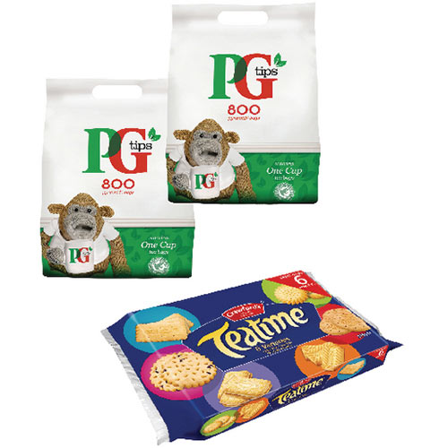 PG One Cup Pyramid Tea Bags Pack of 800 Buy 2 Get Free Biscuits VF819644