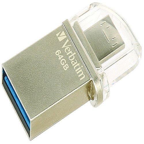Verbatim Store 'n' Go OTG Micro Metal USB 3.0 Drive 64GB 49827