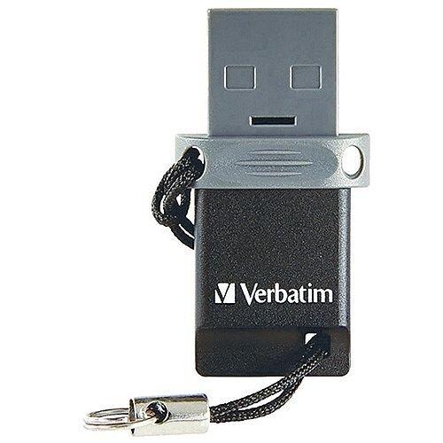 Verbatim Store 'n' Go OTG Micro Dual USB 2.0 Drive 64GB 49844