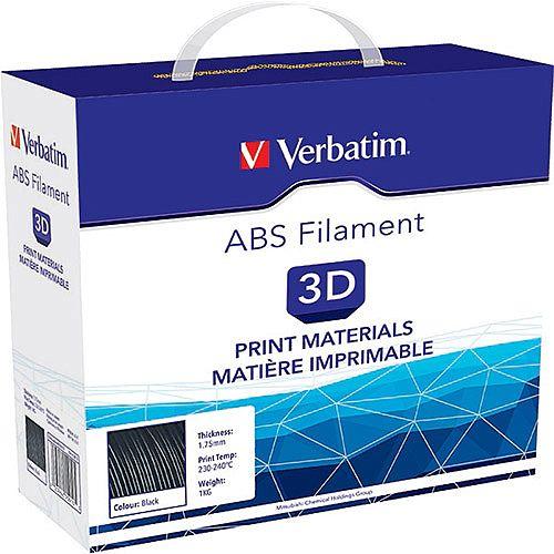Verbatim PLA Filament ABS 1.75mm 1kg Reel Black
