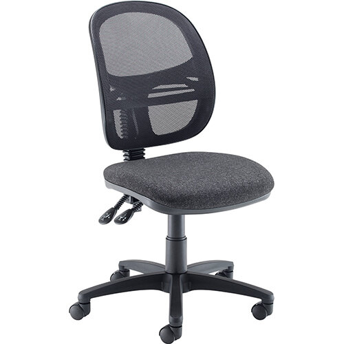Vantage Mesh medium back operators chair with no arms - charcoal