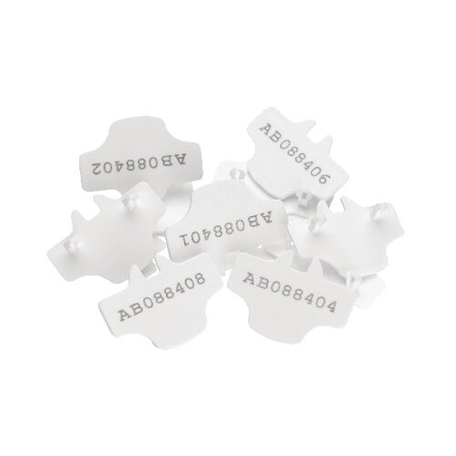 Versapak T2 Numbered Seals White Pack of 500 NUMBEREDT2