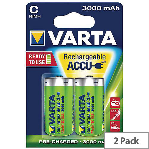 VARTA C Rechargeable Accu Battery NiMH 3000 mAh (Pack of 2)