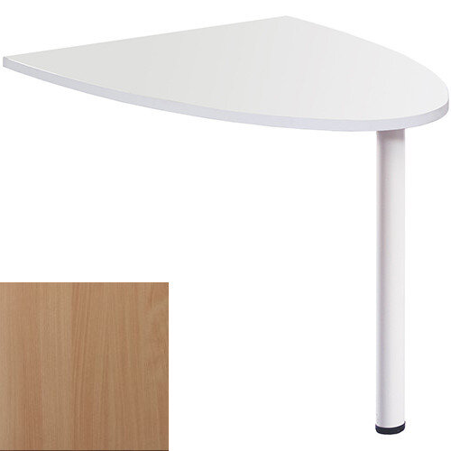 Welcome Reception Desk D-end Extension 1000mm x 888mm - Beech