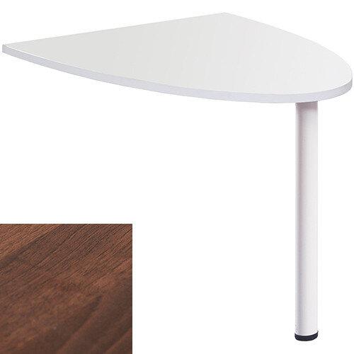 Welcome Reception Desk D-end Extension 1000mm x 888mm - Walnut
