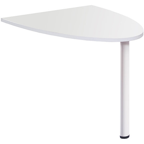 Welcome Reception Desk D-end Extension 1000mm x 888mm - White