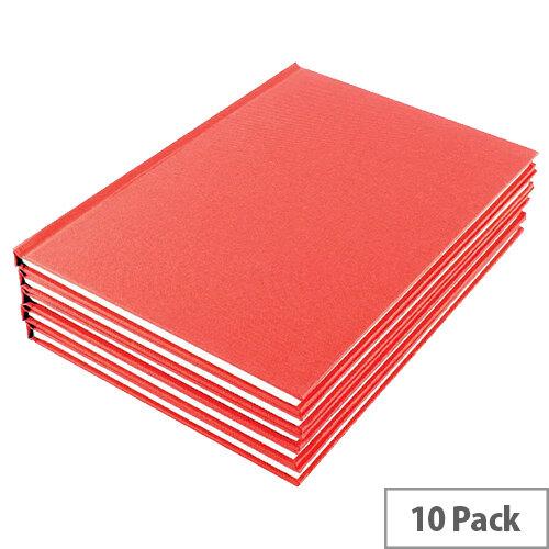 Manuscript Book A5 Ruled Feint Pack of 10 WX01061