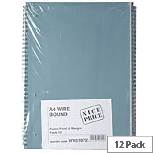 A4 Spiral Pad 80 Leaf  Pack of 12 WX01072