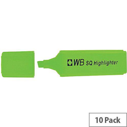 HiGlo Highlighter Pens Green Pack 10 WX01113