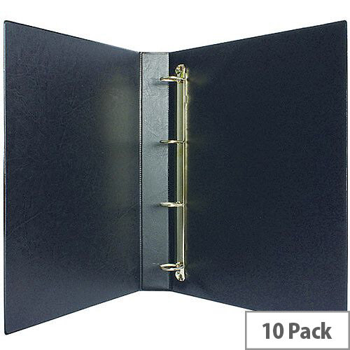 Presentation 4D-Ring Binder 25mm Black Pack of 10 WX01328