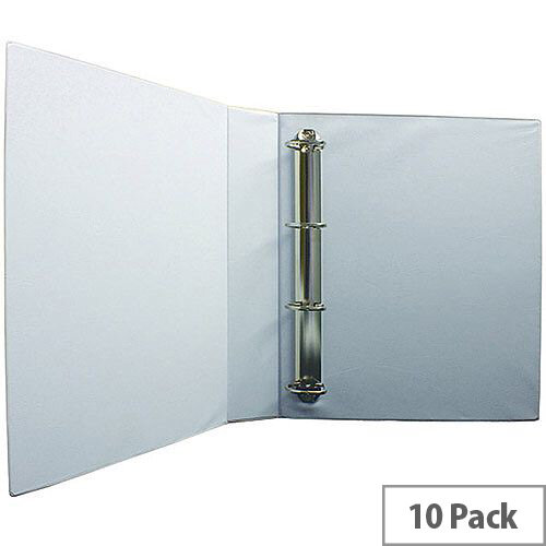 Presentation 4D-Ring Binder 40mm White Pack of 10 WX01329