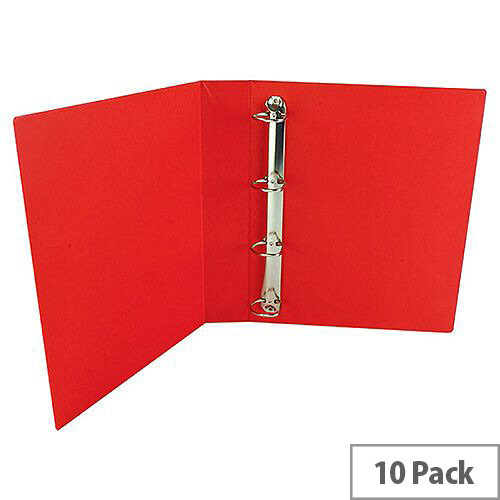 Presentation 4D-Ring Binder 40mm Red Pack of 10 WX01330