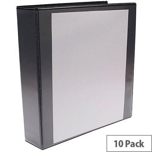 Presentation 4D-Ring Binder 40mm Black Pack of 10 WX01332