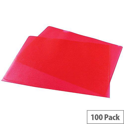 Cut Flush Folder Red A4 Pack of 100 WX01485
