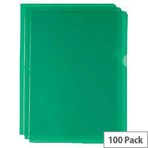 Cut Flush Folder Green A4 Pack of 100 WX01488