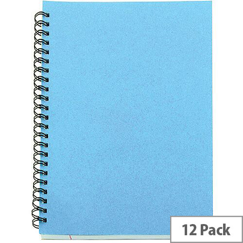 A5 Spiral Pad 80 Leaf Blue 12 Pack WX10039