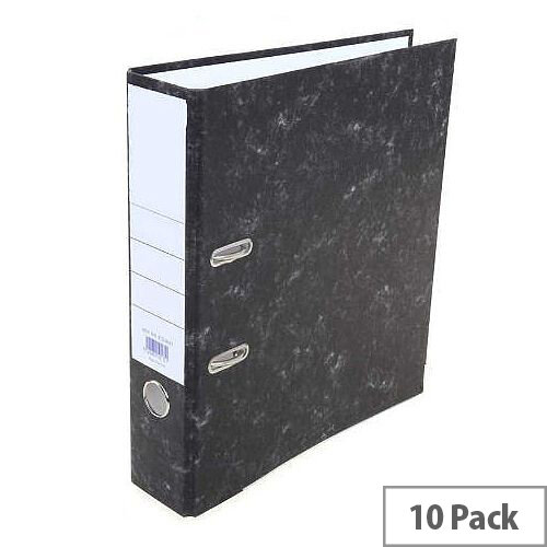 Charcoal A4 Lever Arch Files 70mm Pack of 10